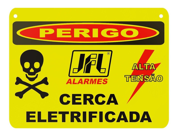 Aviso Placa Advertência. Cerca Eletrica 15 X 20 Lt 10 Peças