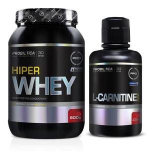 Kit Definição Muscular Probiotica L Carnitina + Hiper Whey