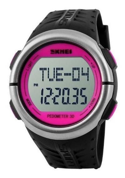 Relógio Feminino Skmei Digital Pedômetro 1058 Rosa