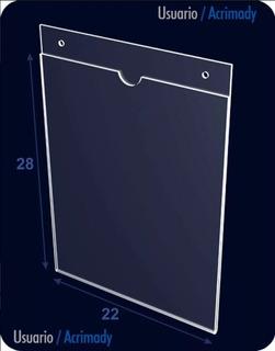 Porta Hojas De Acrílico, 2mm, Carta, Vertical.