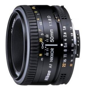 Nikon Af Fx Nikkor 50mm F 1.8d Lente Con