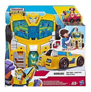 Transformers Bumblebee Torre De Pistas Rescue Bots Academy
