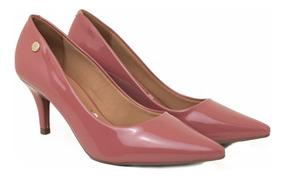 Sapato Feminino Scarpin Vizzano Verniz Salto Médio 7 Cm
