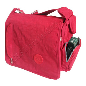Bolsa Carteiro Feminina Tactel + Estojo 2 Zíp + Frete 0168#