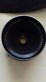 Lente Minolta 35mm Montura Md