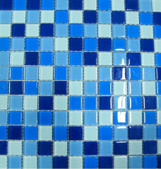 1 Pza Malla Mosaico Decorativo Muro Pared Cenefa Azul/amaril