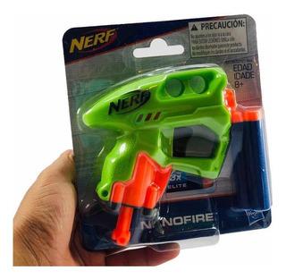 Nerf Elite Pistola Nanofire 2 Dardos Hasbro Regalo Fiesta