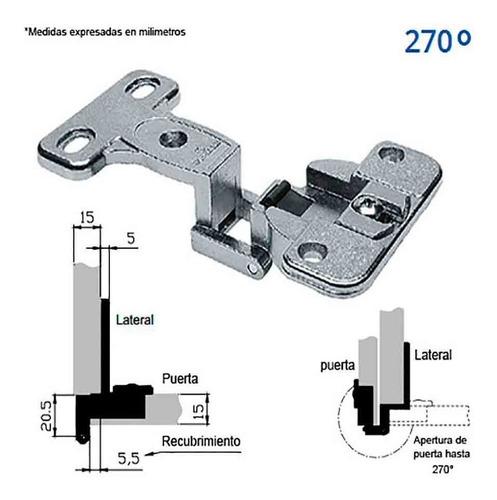 Bisagra De 35mm 270 Grados De Apertura Para Gabinetes El Par
