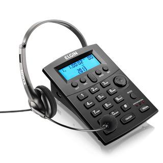 Telefone Headset Preto Hst8000 Elgin