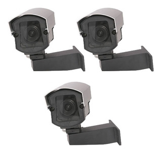 Câmera Falsa Com Led 110v/220v- Kit Com 3 Peças + Brinde