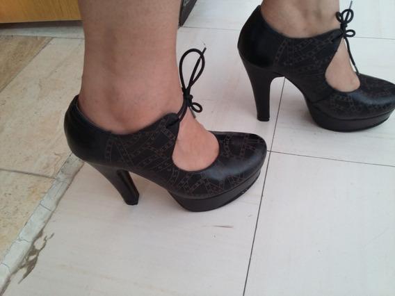 Zapatos Botines Negros Marca Vicenza