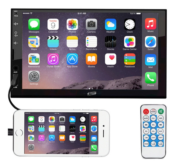 Central Multimidia Universal Mp5 2 Din Espelhamento Android