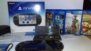 Sony Playstation Ps Vita Negro + 4 Juegos + Memoria 4gb