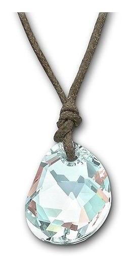 Mini Colar Galet Cordão Pingente Cristal - Swarovski 940245#