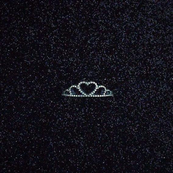 Anel Tiara De Coração Em Prata 925