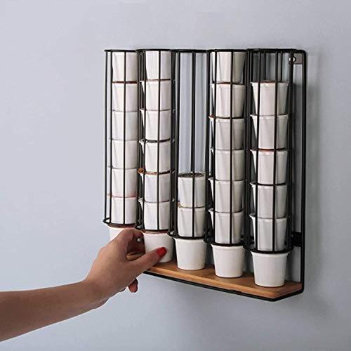 Imagen 1 de 6 de Soporte Para Cápsulas De Café, De Metal Negro, Marca Pyle
