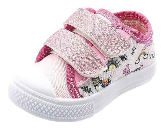 Tênis Infantil Bebe Rosa E Pink Botinho Atacadão Calçados