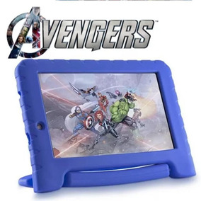 Tablet Kid Pad Dos Vingadores Disney Com Case Emborrachado