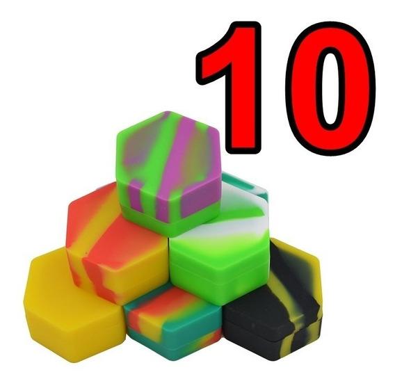 Pack 10x Oil Slick Hexagonal Silicone 26 Ml Hexágono Bho Dab