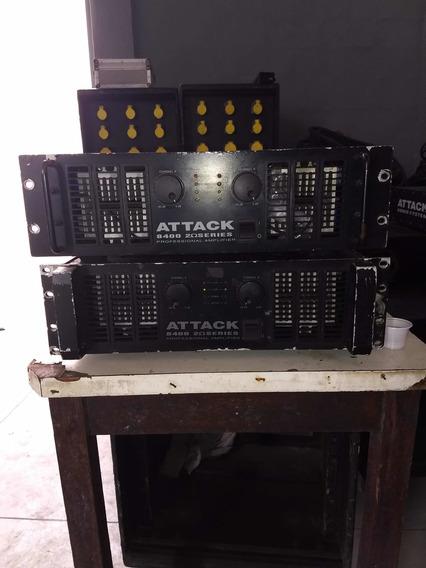 Amplificador/potência Attack Audio System 6400 2ohms Series