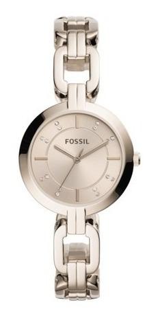 Relógio Feminino Fossil Dourado 1 Ano De Garantia Original
