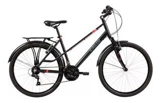 Bicicleta Mobilidade Caloi Urbam Aro 26 Câmbio Shimano Preta Bke Com Garupa Bagageiro 21 Marchas Cod.395