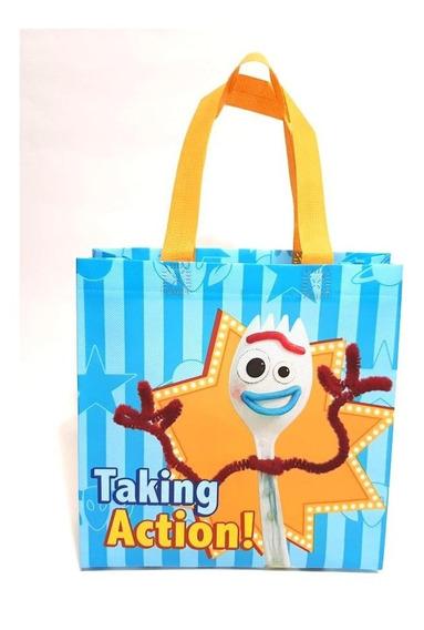 Toy Story Forky Bolsas Dulceros Fiestas 30 Pzas Bolos Azul