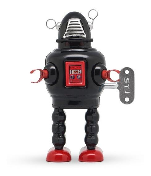 Robot A Cuerda De Hojalata Retro Tin Toy Planet Robot Gato