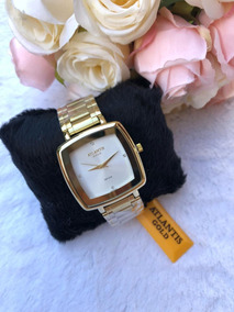 Relógio Feminino Original Atlantis Gold Quadrado