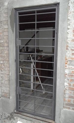 Puerta Reja De Seguridad Doble Cerrojo Varilla 16mm