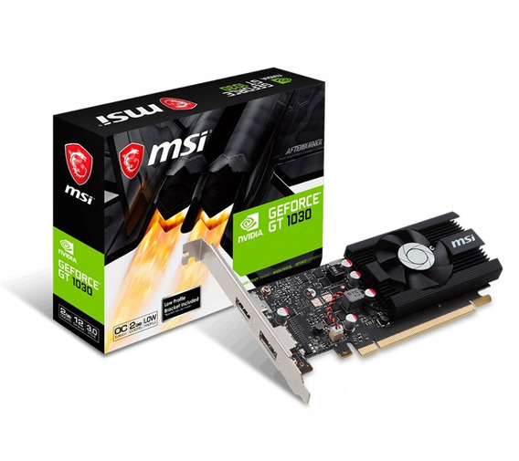Placa De Video Nvidia Msi Geforce Gtx 1030 2gb Oc Ddr5 Lp Pc