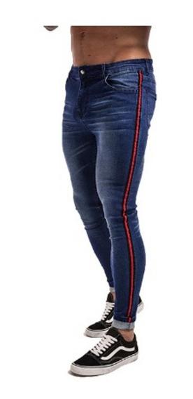 Pantalon Corte Skinny Jeans Mezclilla Para Hombres Linea