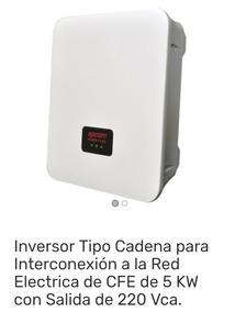 Inversor 5kw 220 Interconexión Cfe Epig5k Epig 5k Epig-5k
