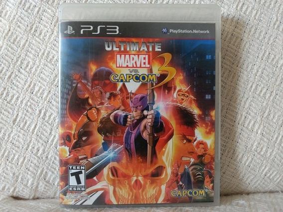 Jogo Ps3 Ultimate Marvel Vs Capcom 3 Mídia Física Original