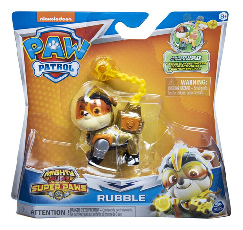 Paw Patrol Mighty Pups Cachorros Rubble