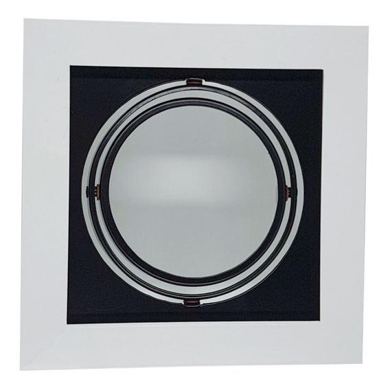 Spot Embutir Ar111 Quadrado P/1 Lâmpada Br/pt - Vr 4403/1