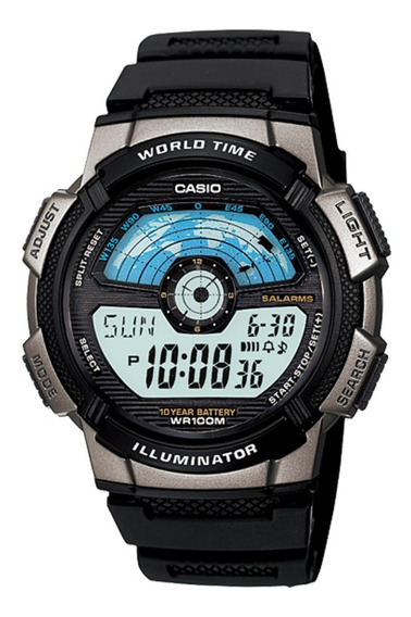 Relógio Masculino Casio Ae-1100wh-1avdf Digital Na Caixa