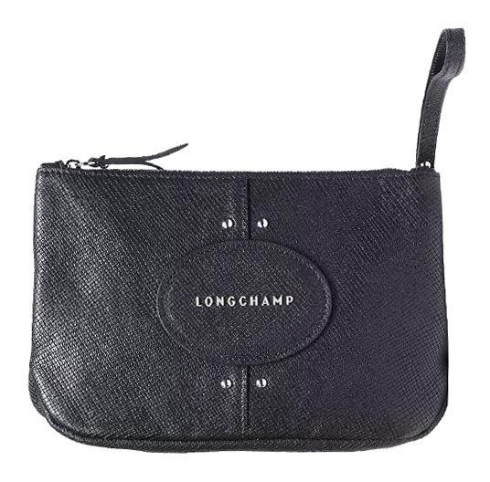 Bolsita Piel Modelo Quadri Negra Longchamp