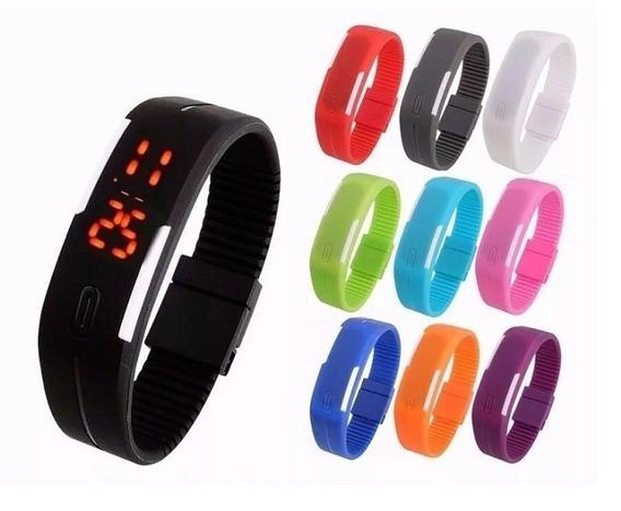 Kit 10 Relógio Pulseira Silicone Digital Led Bracelete