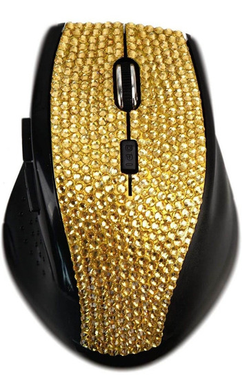 Sa Crystal Diamond Rhinestone Bling 2.4g Wireless Mouse Con