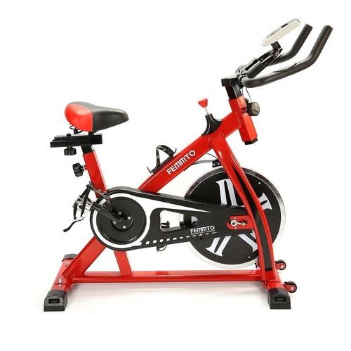 Bicicleta fija spinning Femmto Residencial SPIN1000 roja