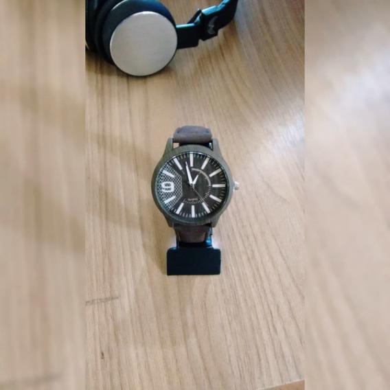 Relógio Madeira + Brinde Caixa Protetora (preço Negociável)