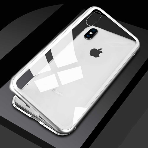 Capa Capinha Magnetica iPhone 7 8 Plus X Xs Max +pelicula 3d