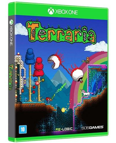 Jogo Terraria Xbox One Disco Físico Lacrado Nacional Barato