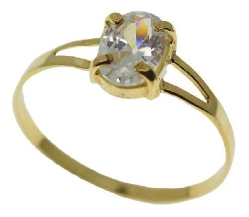 Anel Maciço Ouro 18k 750 Escolha A Cor Da Pedra