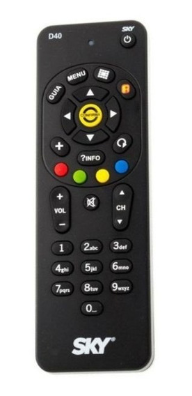 50 Controle Remoto Sky Hdtv Plus H67 Original Com Pilhas