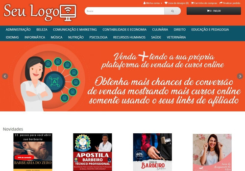 Loja Virtual Cursos Online Da Hotmart Em Opencart