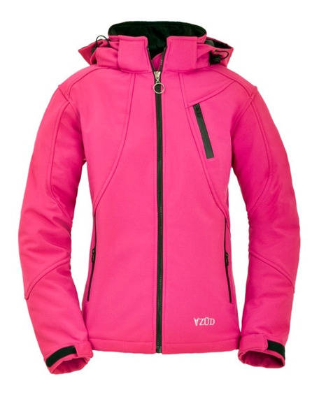 Campera Softshell Termica Impermeable Con Capucha