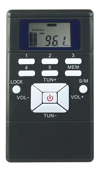 Rádio Receptor Walkman Fm Portátil De Bolso Y4305 Cor Cinza