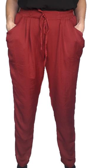 Pantalón Mujer Babucha Saten Moda Sar B9930